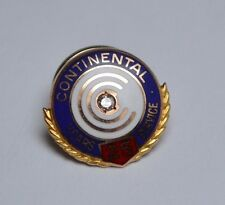 10K GOLD EMPLOYEE PIN,CONTINENTAL 25 YEARS OF SERVICE, GOLD PIN WITH DIAMOND