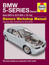 BMW 5-Series 520 525 530 E60 Diesel 03-10 Haynes Manual