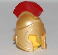LEGO - Minifig, Headgear Helmet Spartan Warrior - Gold w/ Dark Red Crest Pattern