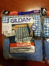Men's New in pkg GILDAN Men's Boxers 2XL 44-46 XXL 2 Pack Lot Of 3, 6 Pairs Ttl