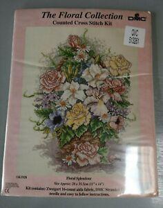 "Counted Cross Stitch Kit - Floral Splendour By DMC - 11"" X 14"" (K1928)"