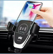 Qi 10w Wireless Fast Charger Car Mount Holder Stand- All Phone Compatible