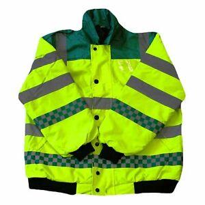 EMT Ambulance Paramedic High Visibility Bomber Jacket Coat Breathable Waterproof