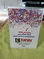 Xanax Stand Up Card Pharmaceutical Collectibles Plastic Frame Drug Rep PROMO
