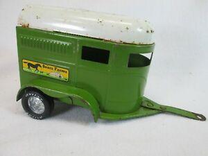 Vintage 1970's Sears Farms green & white horse trailer