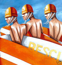 Bondi Rescue By Andy Baker Australia Art Street Beach Sydney NSW life saving