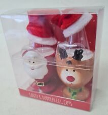 Santa Claus Father Christmas Breakfast Pottery Eggcup Egg Cup with Lid