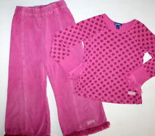 NAARTJIE Long Sleeve Top & Cords Pants Set Outfit Pink Girl Size 6