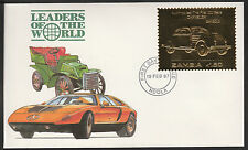 Zambia (385) 1987 Classic Cars - CHRYSLER in 22k gold foil on First day Cover