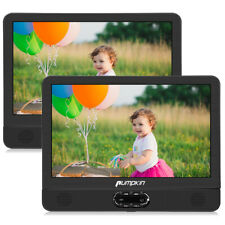 "12"" HD TFT Dual Screen Portable DVD Player Rechargeable Battery USB SD AV-IN/OUT"