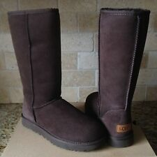 UGG Classic Tall II Chocolate Brown Water-resistant Suede Boots Size US 8 Womens
