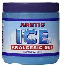 ARCTIC ICE ANALGESIC GEL MENTHOL MUSCLE RUB Pain Relief 8 oz Jar