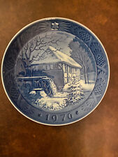 royal copenhagen collectible 1976 blue Christmas Plate
