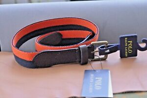 POLO RALPH LAUREN Belt Men's size 42 Navy Blue Orange NEW NWT