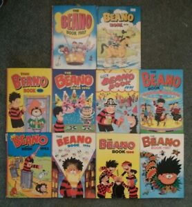 The Beano Comic Annuals (Job Lot of 10 Annuals) 1976 to 1997 VGC
