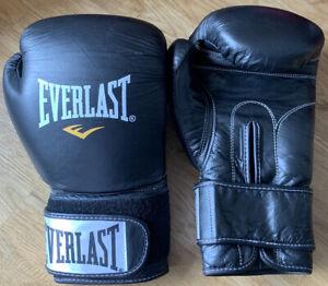 Everlast Boxing Gloves 14oz Black BNWOT Flawless