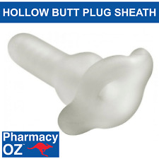 Penis Sheath Hollow Anal Plug Girth Extender Butt Sleeve Hole Spreader Sex Toy