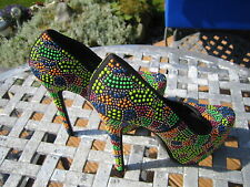 Belle Woman High Heel Shoes Multi Coloured Size 5 { Euro 38 } REDUCED  FREEPOST