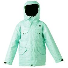 Youth Girl's DC Shoes Arcadia K Ski Snowboard Snow Jacket Mint Green Size XL