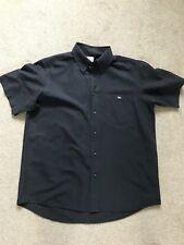Lacoste Men's Short Sleeve Shirt - Black size 42 - 44