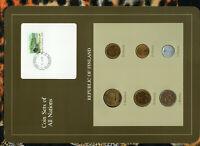 Coin Sets of All Nations Finland 1981-1985 UNC 1, 5 Markkaa 1984 50 Pennia 1983