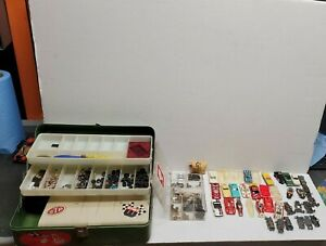 LOT Of VINTAGE AURORA AFX TYCO HO SLOT CARS BODIES CHASSIS Parts Tires Racers