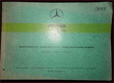 Mercedes Unimog Type OM 616 Motor-Ersatzteilliste