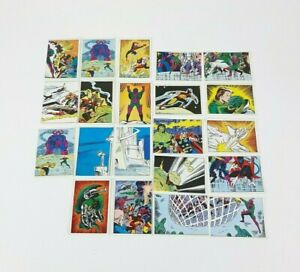 27 x Vintage 1986 Panini Marvel Super Heroes Secret Wars Sticker Lot, Bundle