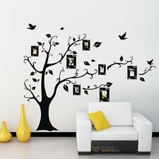 Modern Photo Frame Family Tree Black Decal Room Decor Removable Wall Sticker