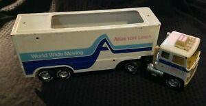 RARE Vintage Nylint Steel Atlas Van Lines Worldwide Moving 18-Wheeler Semi Used