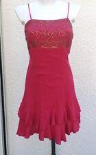 Robe Rouge A Bretelles Réglables Sequins sur le haut  Kiabi Woman Taille XL
