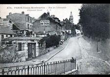 """PARIS Montmartre (XVIII°) Commerce VINS & EPICERIE """"Maison GEORGES"""" animé en1924"""