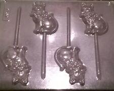 Chat assis chocolat Lollipop moule