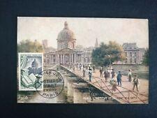 FRANCE PREMIER JOUR FDC YVERT 971 PONT DES ARTS RELIURE 30F PARIS 1953