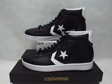 New Mens 12 Converse Star Player Pro Leather Mid Black White Shoes 136522C $70