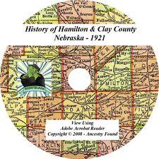 1921 History of HAMILTON & CLAY County Nebraska NE