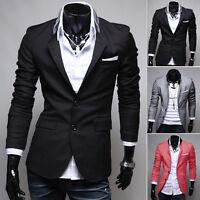 Men /'s Two Button Slim Fit Suit Blazer Casual Business Men Coats Fashion Jacket