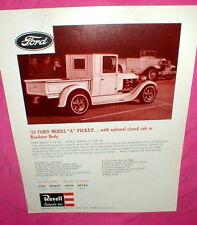 Revell '29 Ford Model A Pickup Model Car Kit 1965 Dealer's Advertising Flyer