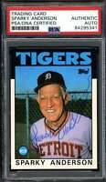 Sparky Anderson Signed PSA DNA Coa 1986 Topps Autograph