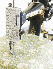 William Morris Pimpernel Green Floral Cotton Fabric by Half Metre