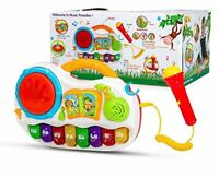 Kids Baby Musical Toy Piano Developmental With Sing Along MIc & Tap Drum