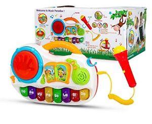 BOX DAMAGED Kids Baby Musical Toy Piano Developmental Sing Along MIc & Tap Drum