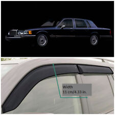 LE50190 Window Visors Guard Vent Wide Deflectors For Lincoln Town Car 1990–1997