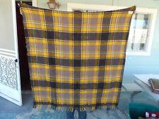 Vintage Faribo Pak A Robe Stadium Blanket 100% Wool Fluff Loomed 50 X 60