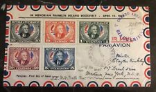 1950 Asuncion Paraguay First Day Cover FDC To New York USA F Roosevelt #661-5