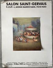 Affiche EXPO SALON SAINT-GERVAIS 1985