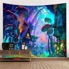 Fairytale Mushroom World Tapestry Wall Hanging Art Decoration Wall Tapestry Dec