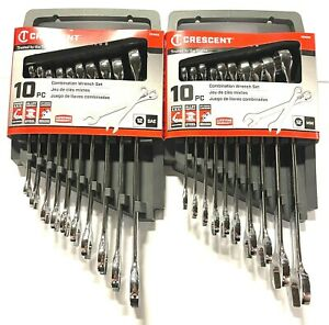 Crescent 20pc Combination Wrench Set SAE Metric 12 Point Wrenches