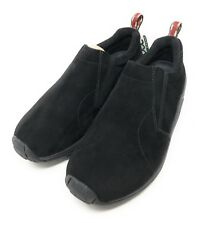 NEW Merrell Jungle Moc Midnight Black Suede Slip On Walking Hiking Shoes Mens 10