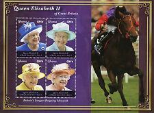 Ghana 2015 MNH Queen Elizabeth II Longest Reigning Monarch 4v M/S Horses Stamps